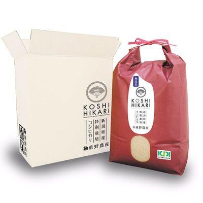 新潟産コシヒカリ(特別栽培米)無洗米5kg