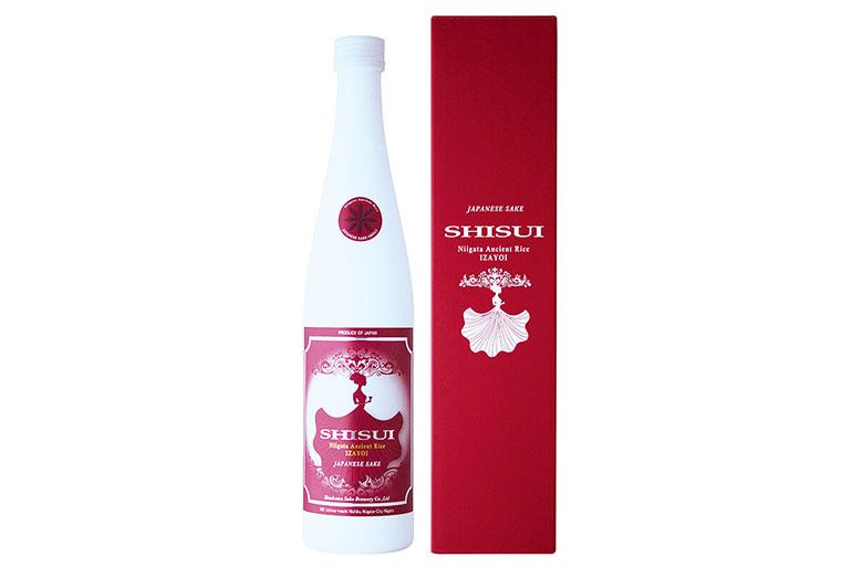 古代米を使用した赤い日本酒!