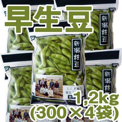 しんどおり早生豆1.2kg(300g×4袋)