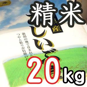 【定期購入】新潟県産こしいぶき 精米20kg
