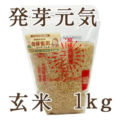 新潟産コシヒカリ 玄米「発芽元気」1kg