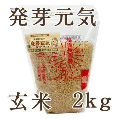 新潟産コシヒカリ 玄米「発芽元気」2kg