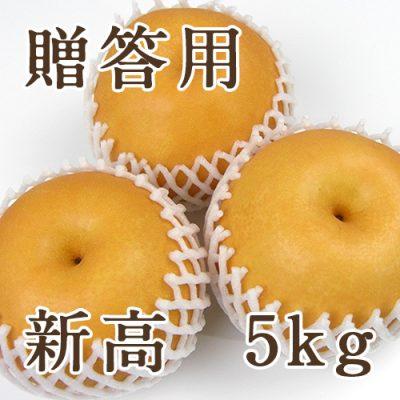 【贈答用】新高 5kg(5~10玉)