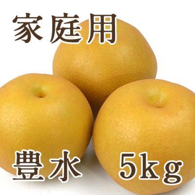 【家庭用】豊水 5kg(8~16玉)