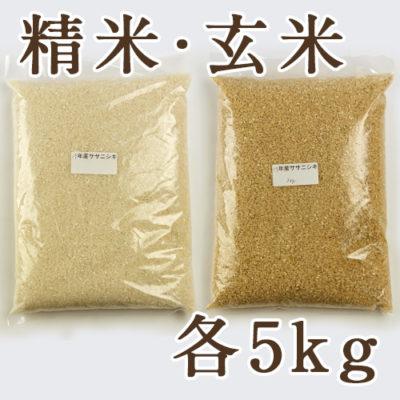 佐渡産ササニシキ 精米5kg・玄米5kg