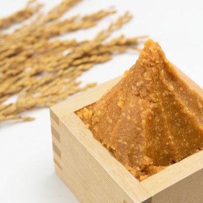 自家栽培のお米・大豆から手作りした田舎味噌