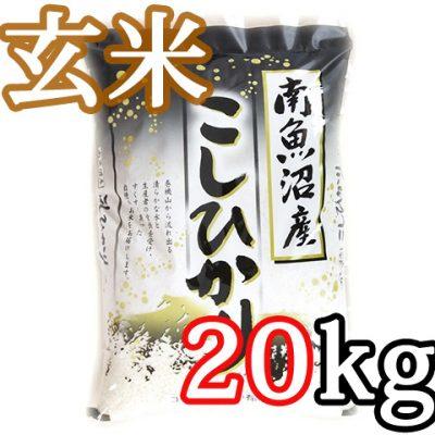 南魚沼 塩沢産コシヒカリ 玄米20kg