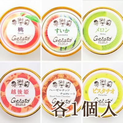 夏の果物ジェラートセット 6種各1個入