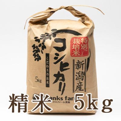 新潟産コシヒカリ(特別栽培米) 精米5kg