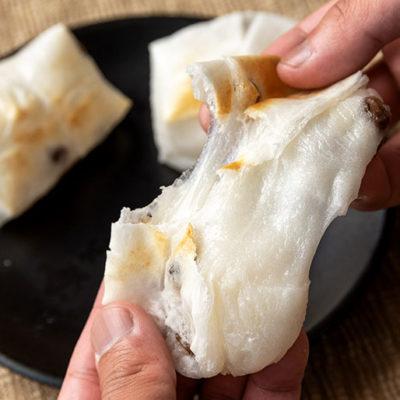 ブランド枝豆「黒埼茶豆」を使用した豆餅が人気