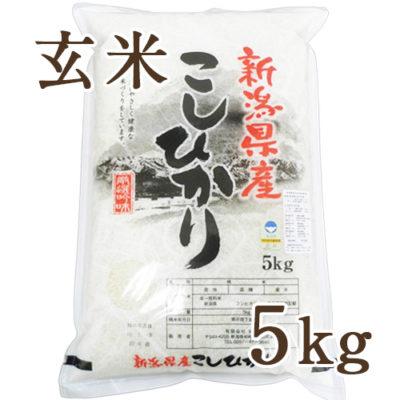 【定期購入】新潟産コシヒカリ 玄米5kg