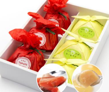 越後彩菓ル・レクチェと妙高の赤茄子 ギフトセット