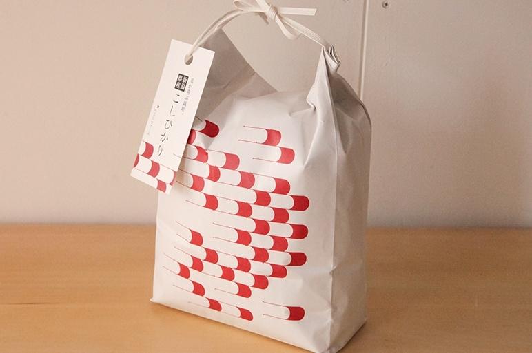 かわいいデザインの米袋でお届け!ギフトにも◎