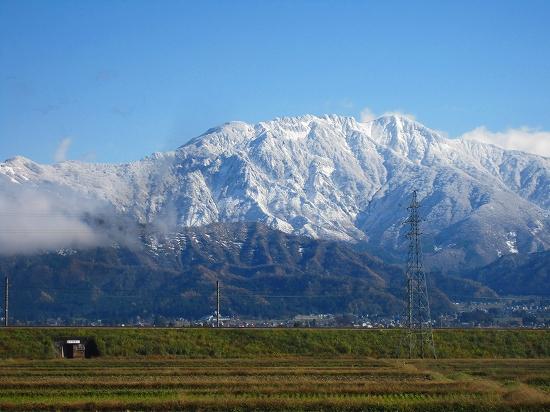 八海山が最も綺麗に見える場所から
