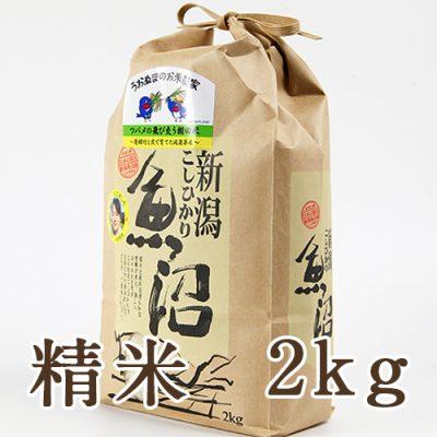 魚沼産コシヒカリ ツバメの飛び交う棚田米 精米2kg