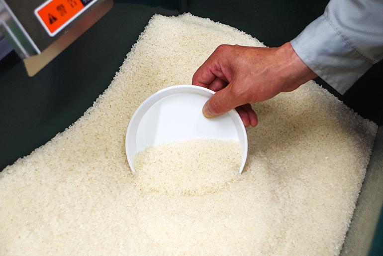 美しい純白のお米を出荷します