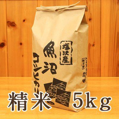 塩沢産 コシヒカリ 精米5kg