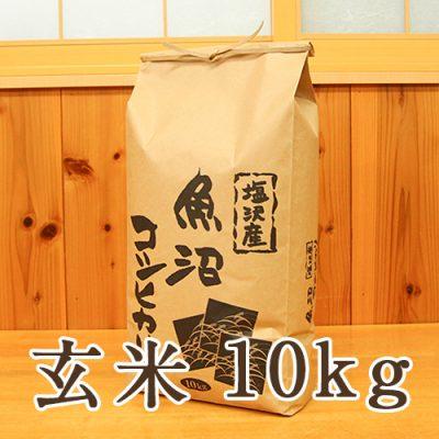 塩沢産 コシヒカリ 玄米10kg