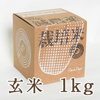 南魚沼産コシヒカリ 玄米1kg(ギフトボックス入り)