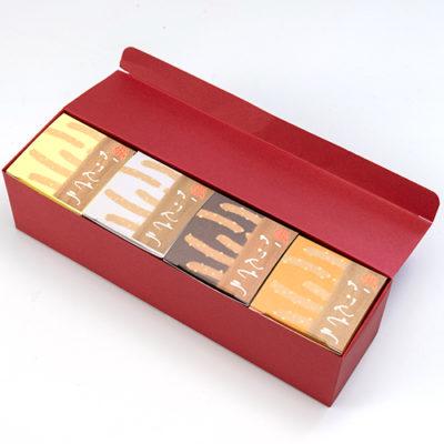 大豆焼きかりんとう デザインボックス(赤)4箱入り