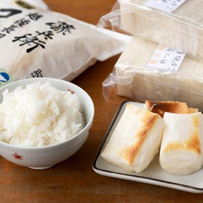 特別栽培米で作った美味しいコシヒカリと杵つき餅