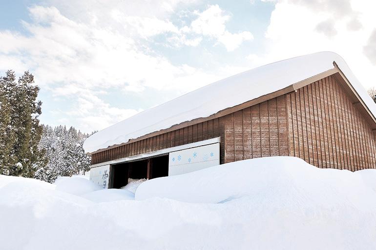 天然の冷蔵庫「雪室」でじっくりと熟成!